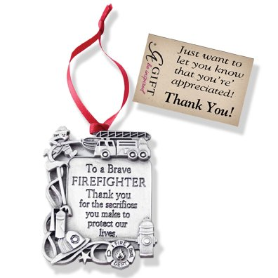 Cathedral Art CO762 Firefighter Occupation Ornament, 2-1/4-Inch for $<!--$5.99-->