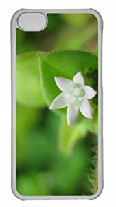 Customized iphone 5C PC Transparent Case - Flower 5 Personalized Cover