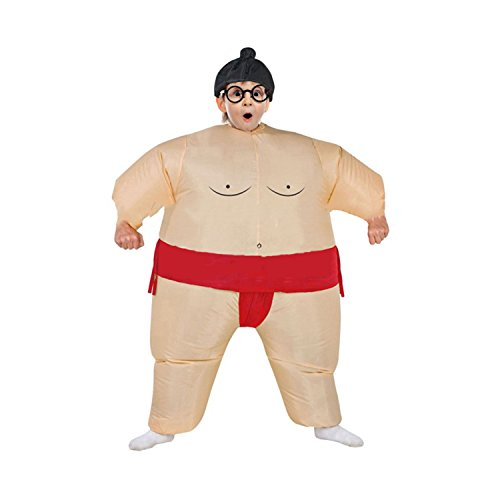Wecloth Inflatable Suit Wrestler Wrestling Suits Colorful Sumo Inflatable Costume BodySuit for Adult Child ()