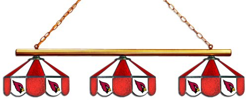 (Imperial Officially Licensed NFL Merchandise: Tiffany-Style Stained Glass Billiard/Pool Table 3 Shade Light, Arizona Cardinals)