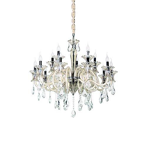Lustre Cristal/ Vidro, 80 X 80 Cm, 15xe14 Bella Iluminação Gallery No Voltagev Transparente/ Champagne