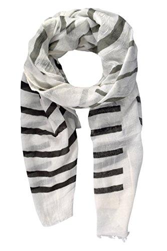 Peach Couture Vertical Striped Fading Eyelash Fringe Shawl Cover Up Scarf (Eyelash Scarf)