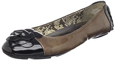 Anne Klein Sport Women's Blondy Flat,Taupe/Black,7 M US