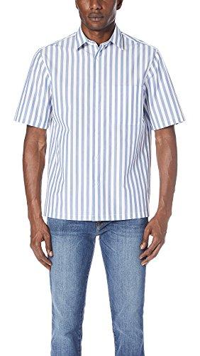 Theory Men's Brunner Lounge Stripe Shirt, Tidal, Medium by Theory (Image #1)
