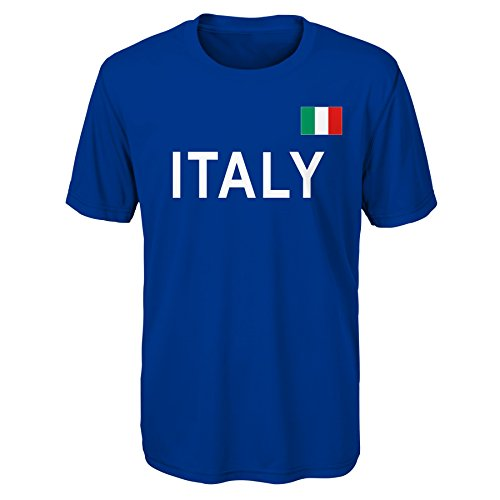 (Outerstuff International Soccer Italy Adult Men Love of Country Performance Short Sleeve Tee, X-Large, Royal)