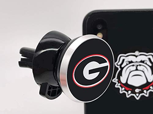 (Magnetic Mount - Phone Holder for Car - Air Vent Magnetic Mount - with Georgia Bulldogs Logo)