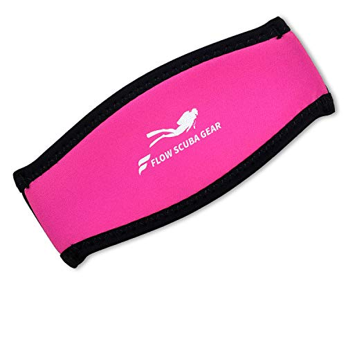 Flow Scuba Gear - Neoprene Cover for Dive and Snorkel Mask Strap (Pink) ()