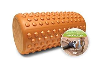 Gaiam Restore 12-Inch Textured Foam Roller w/ DVD from Gaiam Restore