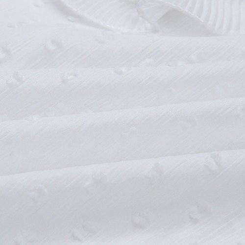 ❤ Blusa de Encaje para Mujer, Mujer Damas Casual Encaje Lunares O Cuello Camiseta Manga Larga Tops Blusa Absolute: Amazon.es: Ropa y accesorios