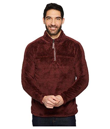 True Grit Men's Double Plush 1/4 Zip Pullover, Vintage Wine, XS
