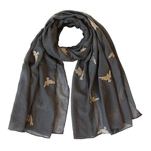 Christmas Decoration Hot Sale!!Kacowpper Women Bird Embroidery Scarf Wrap Shawls Headband Soft Shawl Long -