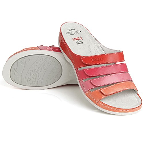 Mix Cuero Sandalias Rosa para Mujer Sylvia Batz de Rwx67H