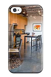 Pretty HIoyRcK4883MiWdJ Iphone 4/4s Case Cover/ Contemporary Industrial Gray Kitchen Area With Concrete Floors Series Top Quality Case