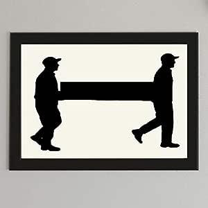 إطار صورة مع لوحة فنية جنازة مطبوعة على ورق   للتثبيت الجداري أو الرف أوالمكتب