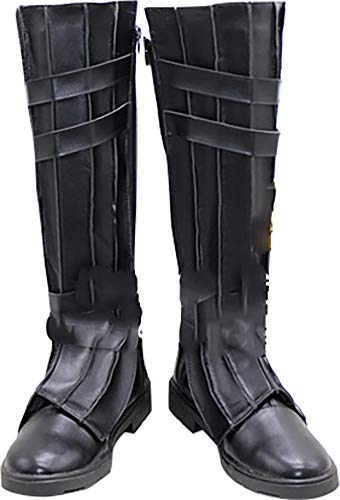 Whirl Cosplay Boots Shoes for Star Wars Anakin Skywalker Black]()