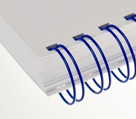 Renz Ring Wire Drahtkamm-Bindeelemente in 3:1 Teilung 5//16 Zoll 34 Schlaufen wei/ß Durchmesser 8.0 mm