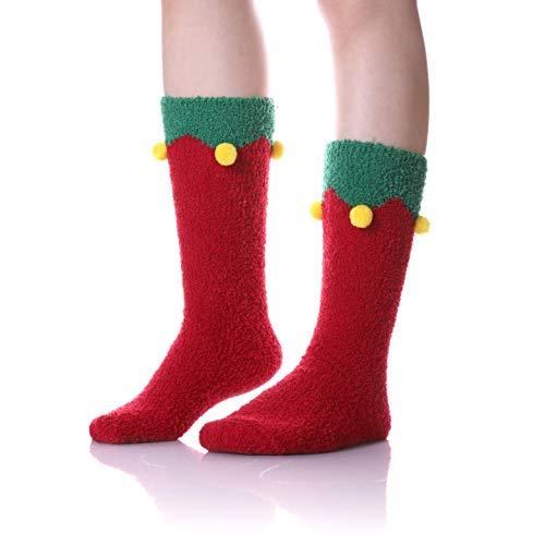 c736dff4d91 KAKAYAO Womens Girls Plush Slipper Socks Super Soft Cute Animal Fuzzy Socks  For Winter Indoor