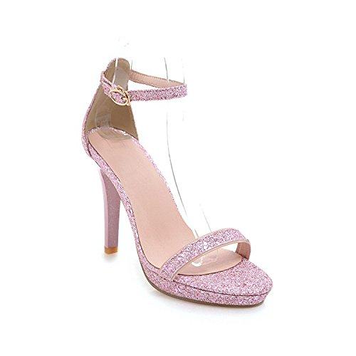 Tacón De Zapatos Mujer Grande Planas Moda Sandalias Elegante Con Estilo Zapatillas Pink Alto Los Y YAadd