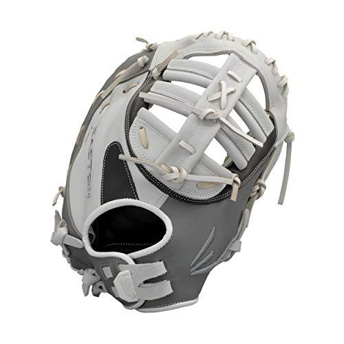 "EASTON GHOST First Base Fastpitch Softball Glove | 2020 | Right-Hand Throw | Female Athlete Design | 13"" | First Base Mitt | Dual Bar Single Post Web | Premium USA Steer Leather | Quantum | GH31FP"