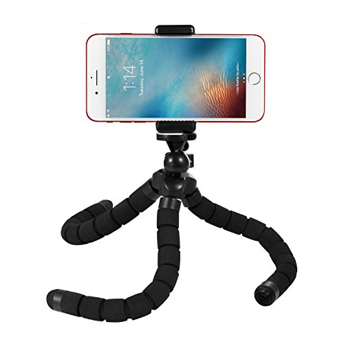 d Style Portable and Adjustable Flexible Tripod Stand Holder Mount with Clip for GoPro, Camera, iPhone & Android Phone (Style Fence)