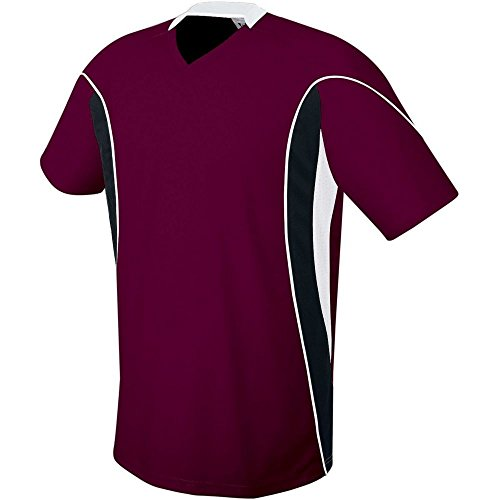 High Five Helix Soccer Jersey-Youth,Maroon/Black/White,Large