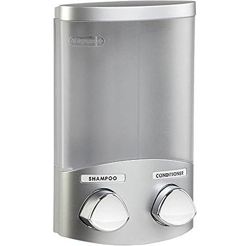 Better Living Products 76234 Euro Series 2-Chamber Soap and Shower Dispenser, Satin Silver (Bathroom Shower Soap Dispenser)