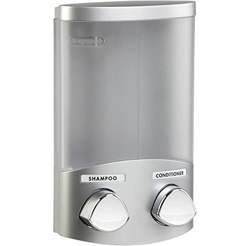 Better Living Products 76234 Euro Series 2-Chamber Soap and Shower Dispenser, Satin Silver