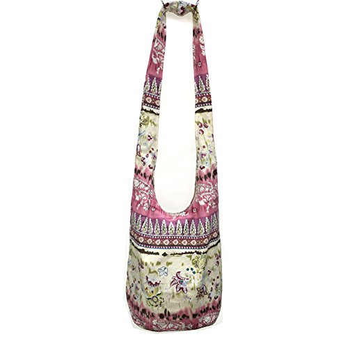 Womens Ethnic Tribal Style Cotton Hippie Hobo Sling Crossbody Bag Messenger Purse (Embroidered Leather Hobo Bag)