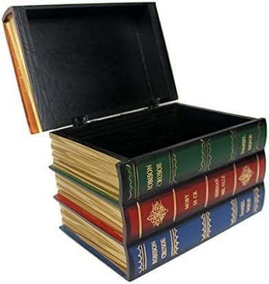 Caja de madera, diseño de libros falsos: Amazon.es: Hogar