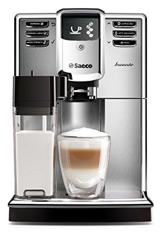 Saeco-HD891701-Incanto-Kaffeevollautomat-AquaClean-integrierte-Milchkaraffe-silber