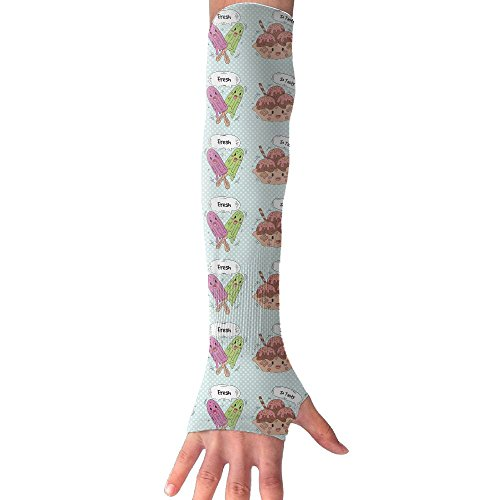 Great Cute Ice Creams UV Protection Cooling Arm Sleeves For Men & Women.Perfect For Cycling,Driving,Basketball,Football & Outdoor - The Sun Yuma Az