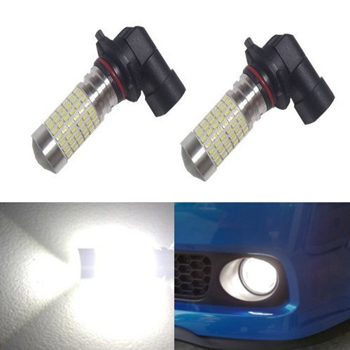 JDM ASTAR 1200 Lumens Extremely Bright 144-EX Chipsets H10 9140 9145 LED Bulbs with Projector for DRL or Fog Lights, Xenon White