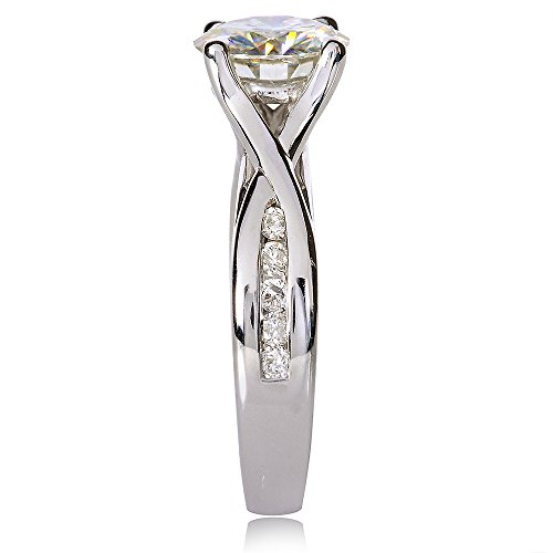 Forever brillant et diamant de bague de fiançailles en Or 911/5carats (ctw) en or blanc 14K _ 7.0