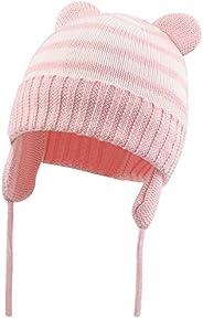 BAVST Baby Beanie Hat for Winter with Earfalp Cute Bear Kids Toddler Girls Boys Warm Knit Cap 0-36M