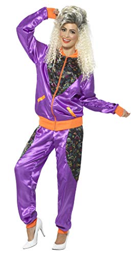 Smiffys Women's Retro Shell Suit Costume, Ladies, Purple, ()
