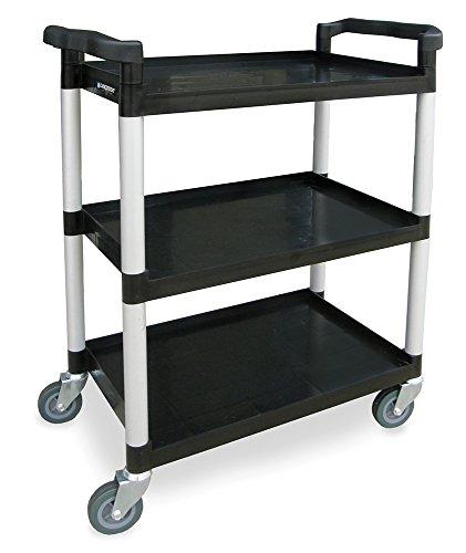 - Lakeside 2500 Plastic Utility Cart; 300 Lb Capacity, 3 Shelf, 16