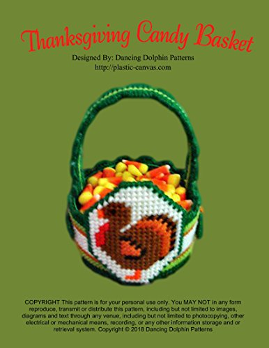 Thanksgiving Candy Basket: Plastic Canvas Pattern ()