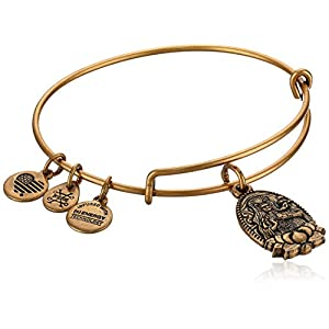 Alex and Ani Guan Yin Bangle Bracelet, Rafealian Gold, Expandable