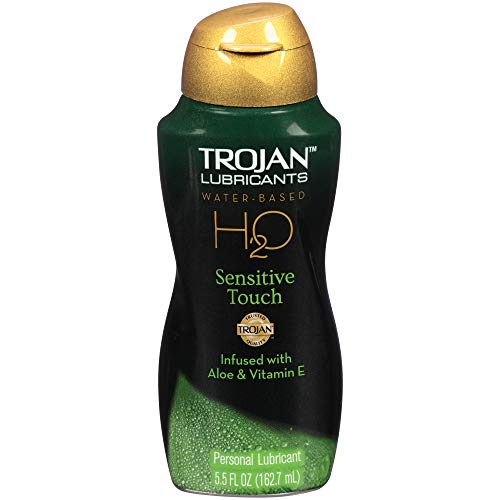 TROJAN Lubricants H2O Sensitive Touch Paraben-Free Water Based, 5.5 Oz (Best Male Masterbation Aid)