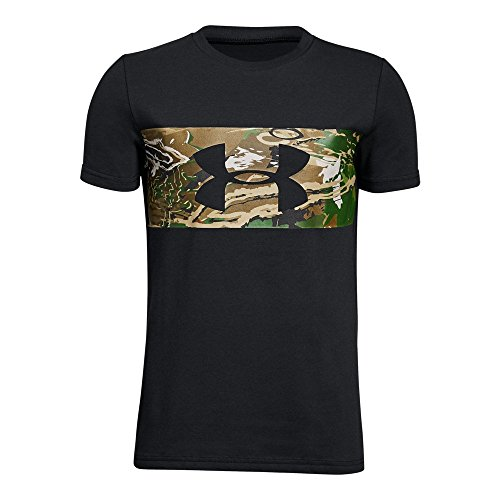 Under Armour Boys Banded Camo Tee, Black (001)/Black, Youth X-Large