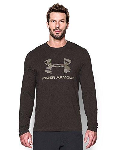 Under Armour Men's Camo Fill Logo LS T-Shirt, Cannon (924), Medium