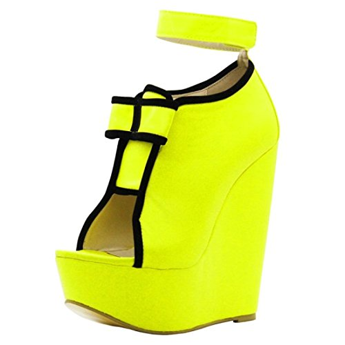 Shoes Shoes Size Cm 45 Peep VIVIOO Elegant 5 Gold Fashion 34 Heel 5 Of 14 Prom Toe Wedges Shoes Sandals Pumps Women EwCCxfPnq