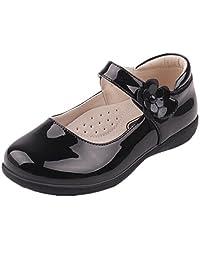 Bumud Kids Girl's School Uniform Mary Jane Flat Shoes(Toddler/Little Kid)