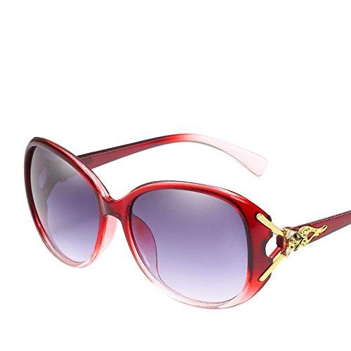 Aoligei Mesdames lunettes de soleil Europe et États-Unis grand cadre tendance lunettes de soleil universel Elegant résistant aux uv BzXhU