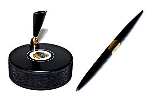 Chicago Blackhawks Autograph Series Hockey Puck NHL Desk Pen Holder