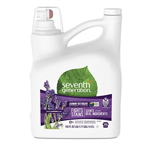 Seventh Generation Liquid Laundry Detergent, Fresh Lavender & Blue Eucalyptus scent, 150 oz, 99 Loads (Packaging May Vary)