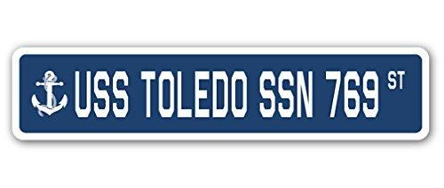 USS TOLEDO SSN 769 Street Sign us navy ship veteran sailor - Us 769