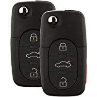 Discount Keyless Replacement Uncut Car Remote Fob Key For Volkswagen Beetle Jetta Passat Golf HLO1J0959753F (2 Pack)
