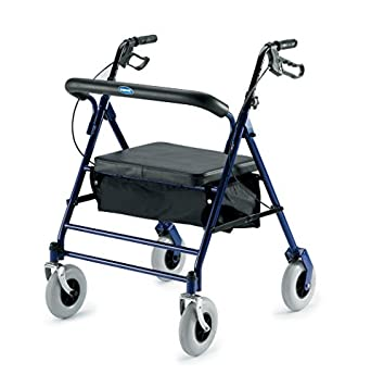 Invacare 66550 Bariatric Rollator 500lb Capacity Flip-Up Padded Seat