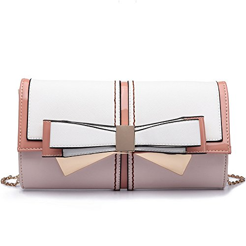 Bag Meaeo Hand Pink Dinner Satchel Solid New Pink Fashion Bag Simple In Handbag Bag qwaPUA